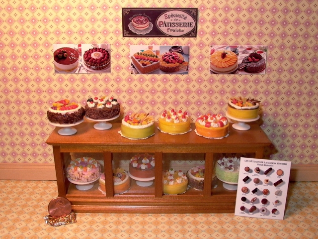 Dollhouse Miniatures Food - iloveminiatures.com - Shop Counters: www.iloveminiatures.com/shopcounters.html